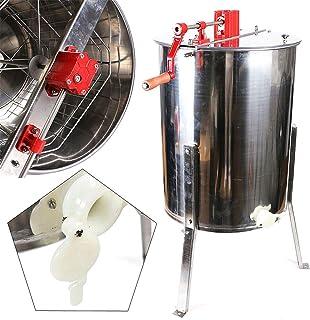 4 Rahmen Edelstahl Imkerei Schleuder manuelle 4-Rahmen Honigschleuder Waben Honig Imker Honigschleuder Waben Kesselauslass 40mm