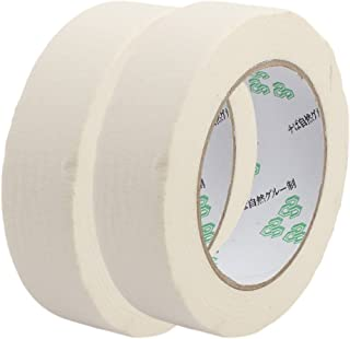 Aexit 2PCS (Electrical equipment) 3cm Width Adhesive Paper Painting Writing Tape White (51ry467qf144) 50M Length