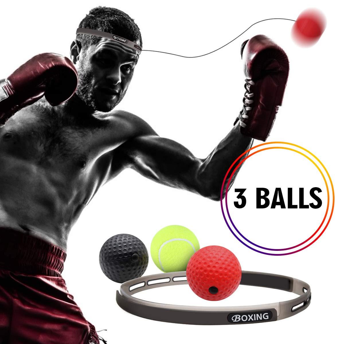 2 Pack Senston Tennis Training Ball with String for Tennis Trainer Boxing Fight Training Balls