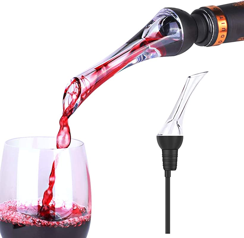 Premium Wine Aerator Pourer Instant Red Wine Aeration For In Bottle Use Perfect Wine Accessories Gift Box
