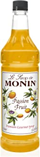 Monin - Passion Fruit Syrup, A Taste of the Tropics, Great for Cocktails, Lemonades, Iced Teas, & Smoothies, Vegan, Non-GM...