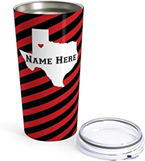 State Pride Series - Personalized 20oz Stainless Steel Tumblers for Travel Indoor Outdoor Use Keep Coffee Warm Beer Cold - Cup Mug for Pool Beach Office Presents and Gift