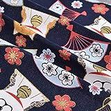 Fovolat - 5 piezas de tela japonesa de algodón para manualidades (20 x 25 cm), diseño de flores pequeñas