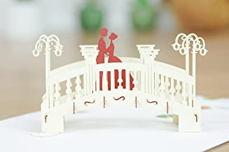 Romantic Bridge 3D Pop Up Card, Wedding 3D Pop Up Card, Anniversary Card, Valentine's Day Card, All Occasions