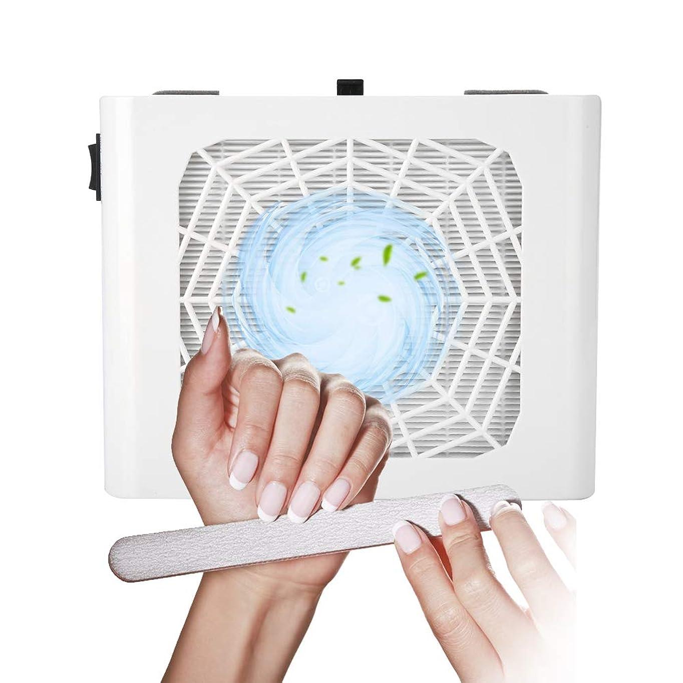 予想する愛されし者印象ネイルダスト集塵機48Wマニキュア掃除用ネイルサロンジェルアクリルアートペディキュアツール(白)