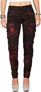 Cipo & Baxx Pantalones vaqueros de cintura alta para mujer, diseños especiales