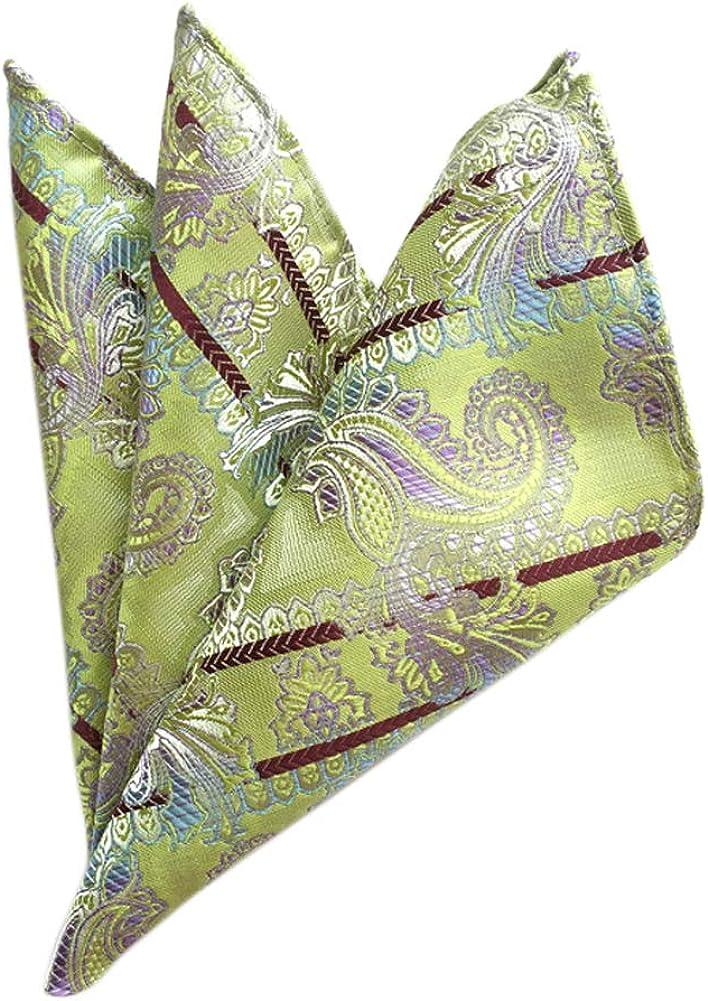 Pack-6 Woven Handkerchief Mens Pocket Squares For Wedding & Tuxedo
