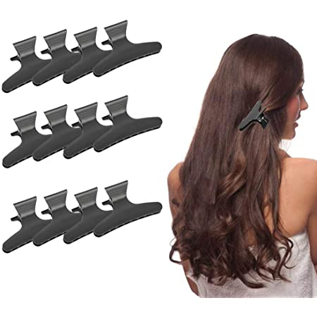 12Pcs Women Girl Butterfly Hair Clips Clamps Claw Grip Hairdressers Salon Tool
