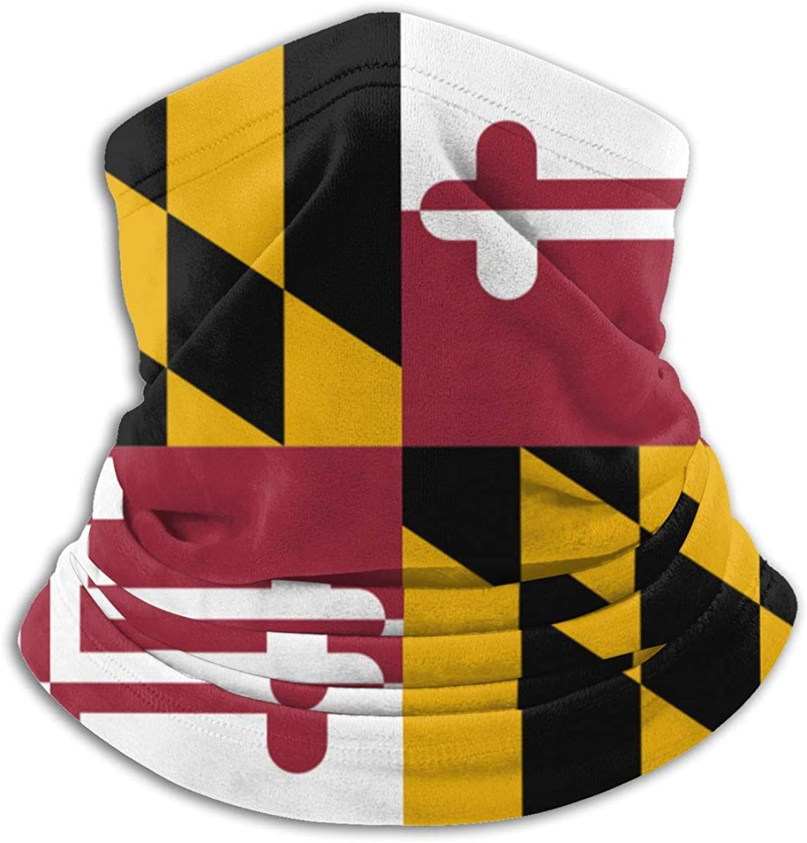 Maryland Crab Decals Flags Face M-ask Shield Protective Balaclava Men & Women - Cold Weather Face Cover Thermal Retention & Safety
