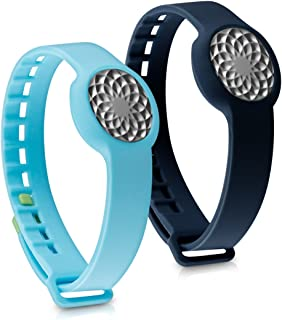 kwmobile Silicone Watch Strap for Jawbone UP Move - 2X Fitness Tracker Replacement Band - Sports Wristband Bracelet Set