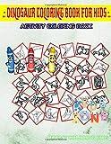 Dinosaur Coloring Book For Kids: 35 Funny Camarasaurus, Corythosaurus, Footprints, Baryonyx, Beipiaosaurus, Pachycephalosaurus, Dilophosaurus, ... Image Quiz Words Activity and Coloring Books
