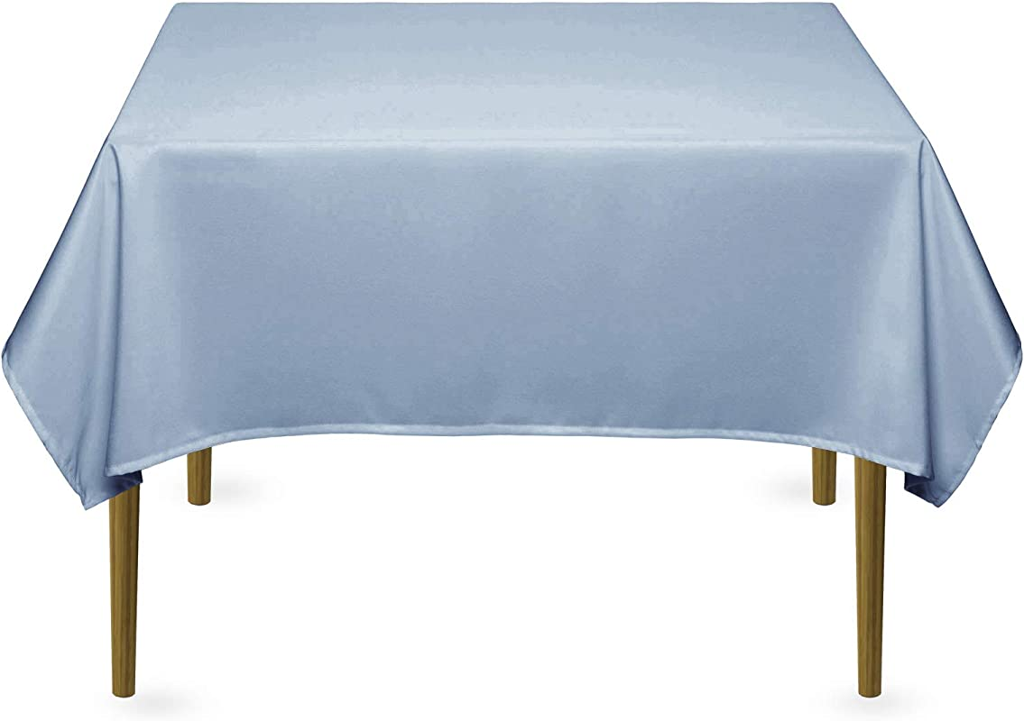 Lann S Linens 54 Square Premium Tablecloth For Wedding Banquet Restaurant Polyester Fabric Table Cloth Baby Blue