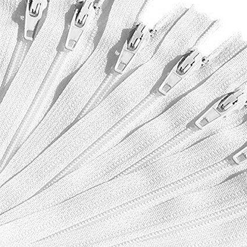 KGS Nylon Fermeture éclair   12 Pouces / 30 cm   100 pcs (Blanc)