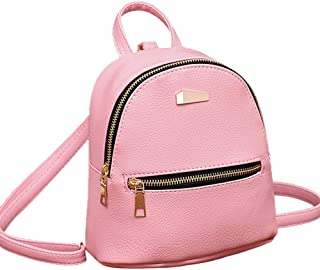 Wultia - New Designer Fashion Women Backpack Mini Soft Touch Multi-Function Small Backpack Female Ladies Shoulder Bag Girl Purse #P Pink