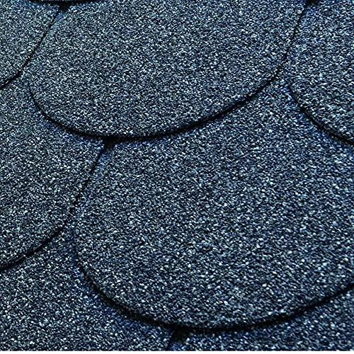 Bardeau bitumé noir en forme de tuile 2,1 m²