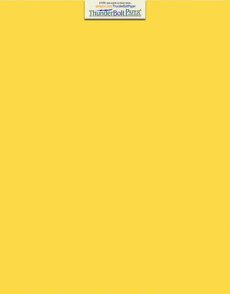 100 Bright Golden Yellow 65lb Cover|Card Paper - 11