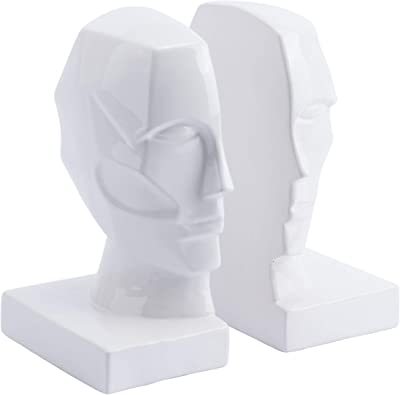 Zuo A11595 Bookends, One Size, White