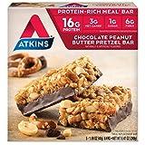 Atkins Protein-Rich Meal Bar, Chocolate Peanut Butter Pretzel, 5 Count