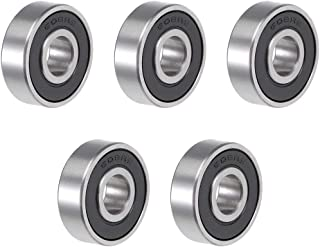 uxcell 608-2RS Deep Groove Ball Bearing 8x22x7mm Double Sealed ABEC-3 Bearings 5-Pack