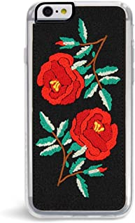 Zero Gravity Case Compatible with iPhone 6/6s - Ojai - Embroidered Rose Design - 360° Protection, Drop Test Approved