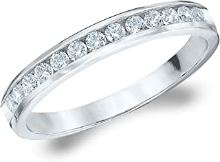.25CT Symphony Genuine Diamond Wedding Ring, Channel Set Anniversary Band in 14K Gold