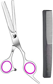 New Stainless Steel Hair Cutting,MSDADA Professional Hair Thinning Texturizing Scissors Thinning Shears 6.7 Inch, Professional Salon Barber Haircut Scissors Family Use for Man Woman Adults Kids