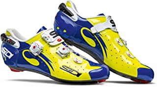 Sidi 2017 Wire Carbon Road Cycling Shoes Yellow Fluo Blue