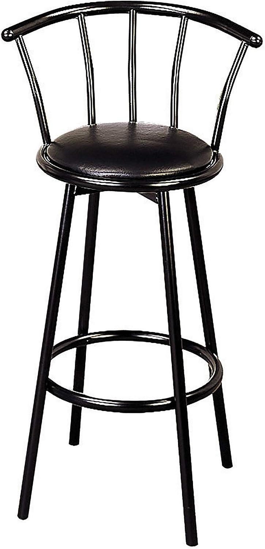 Benzara BM69266 Bar Stool, Black