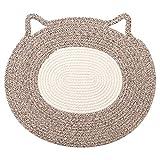 "Holeco Comfy Cotton Rope Pet Cushion Pet Placemat, Cat Mat Nap Pad Sleeping Carpet Scratching Mat, Suitable for Small and Medium Pet (20.5"" x 18.0"")"