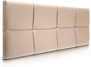 SUENOSZZZ-ESPECIALISTAS DEL DESCANSO Cabecero de Cama Square tapizado en Polipiel para Camas de 135 (145 x 57 cm) Polipiel Beige