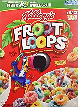 Kellogg s Fruit Loops Cereal Froot Loops 43.6 Ounce Twin Bag Box  Pack of 2