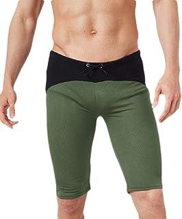 YIhujiuben Mens Tights Sports Cool Dry Athletic Baselayer Compression Pants Leggings Yellow L