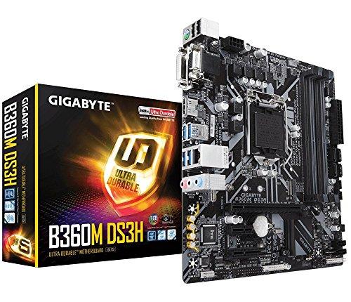 Gigabyte B360MDS3H - Placa Base (Intel B360, S 1151, DDR4, MicroATX), Color Negro