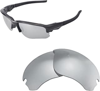 Walleva Replacement Lenses for Oakley Flak Draft Sunglasses - Multiple Options Available