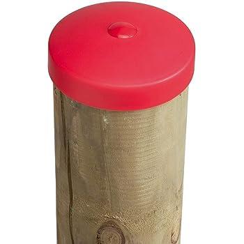 OuM 10 St/ück Pfostenkappe Zaunpfahlkappe rund 42mm Grau