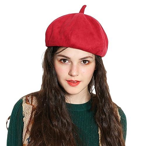 Scrox Boina de Calabaza Boinas otoño e Invierno Mujer paseando en Elegante  Sombrero de Calabaza Sombrero 14fb61c444e
