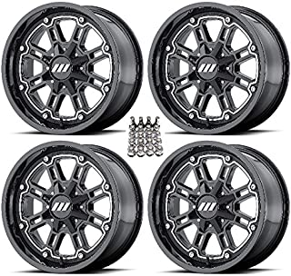 MSA M30 Throttle ATV Wheels/Rims Gloss Black 16