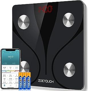 ZOETOUCH Bilancia Pesa Persona Digitale Bilancia Pesapersone Impedenziometrica Intelligente Bluetooth per iOS e Android-Pe...