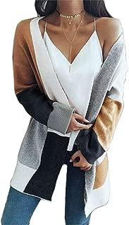 GHdggk Ladies' Woolen Coat Leisure Fashion Thin buckleless Short Jacket Autumn Style Open Front Long Jacket Overcoat.
