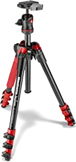 Manfrotto MKBFRA4R-BH BeFree Compact Aluminum Travel Tripod Red [並行輸入品]