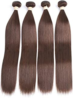 Synthetic Wig Long Straight Hair Heat-Resistant Wig Women's Brown Wig 20 Inches,Hairpieces (Color : Brown, Size : 8inch)