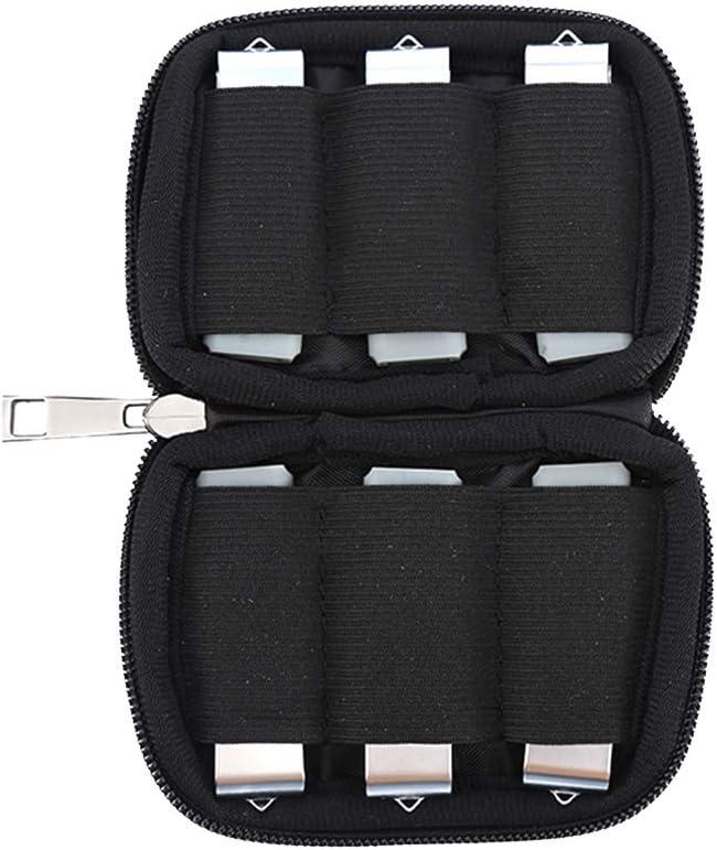 Flash Drive Case USB Case Holder Storage Bag for USB Flash Drive, USB Case, Thumb Drive Caes, Jump Drive Case, USB Organizer,Electronic Accessories Organizer 6 Slots Black (Case Only)