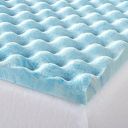 Zinus 1.5 Inch Swirl Gel Memory Foam Air Flow Topper, Twin