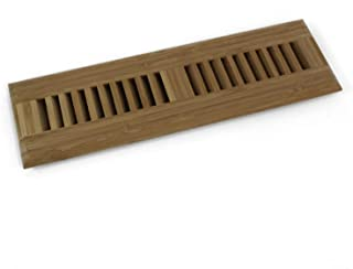 WELLAND 2 Inch x 12 Inch Bamboo Hardwood Vent Floor Register Self Rimming, Unfinished