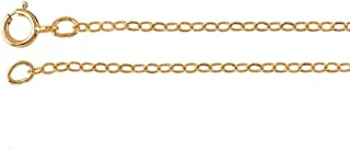Efy Tal Jewelry Sterling Silver or 14k Gold Filled Simple Chain Necklace, 1.5mm Cable Finished Chain - 16