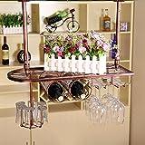 Estante del vino, estante creativo del vino que cuelga, estante de la cristalería