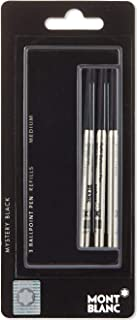 Mont Blanc Set of 3 Ballpoint Refill Medium Mystery Black