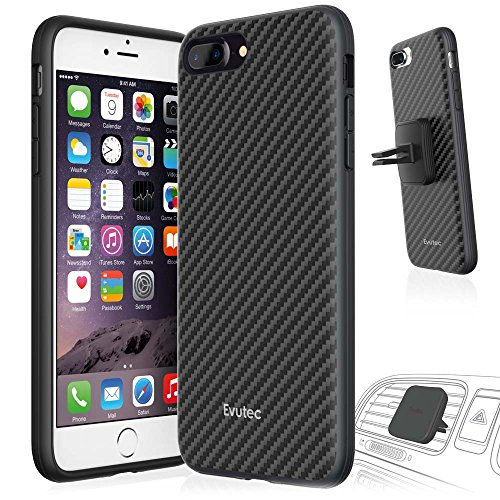 Evutec iPhone 7 Plus AER Karbon Cell Phone Case [Vent Mount Included] - Black