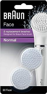 فرشاة تنظيف الوجه من براون العادية، عبوة ثنائية - 80 وجه