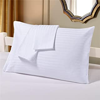 1 almohada de satén de lujo a rayas (19 x 29 300 hilos).